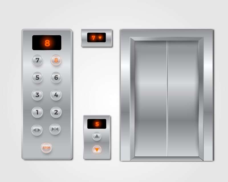 componentes de um elevador